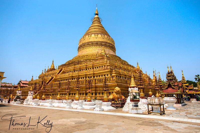 The Shwezigon Pagoda in Bagan.