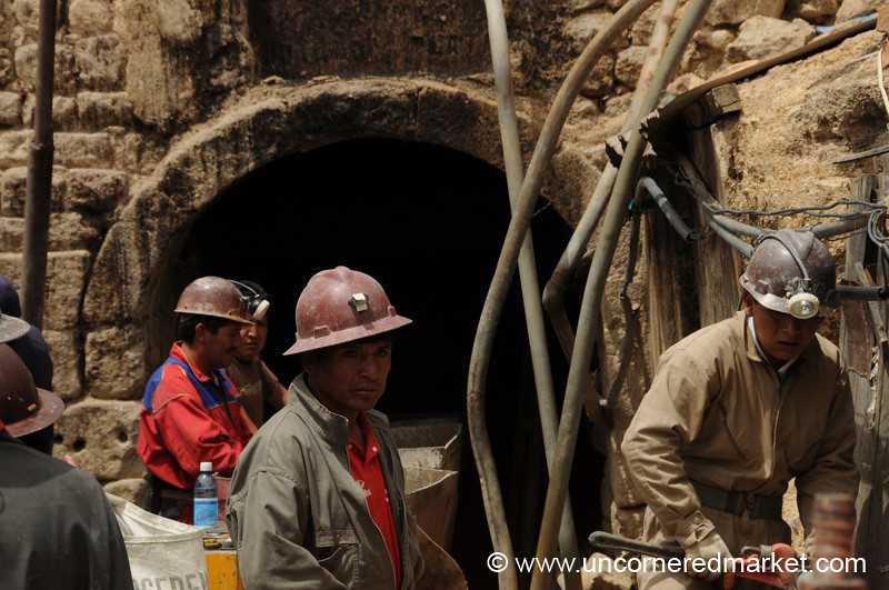 Bringing Wagons Out From the Mines - Potosi, Bolivia