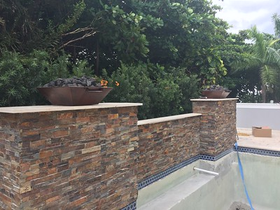 Gas lines to cooktop, firebowls, and grill. Ocean Ridge, FL