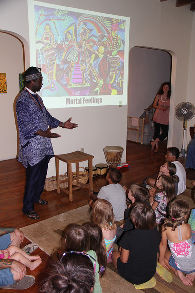 Kids and Ibiyinka Olufemi Alao visit The Seed House, Market St, Tamaqua (7-18-2012)