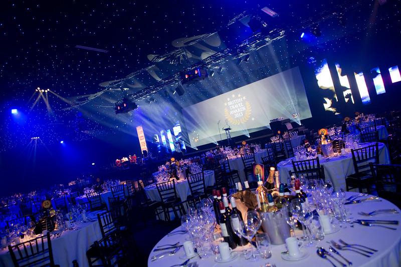 British Travel Awards. 31st October 2013. Battersea Evolution.