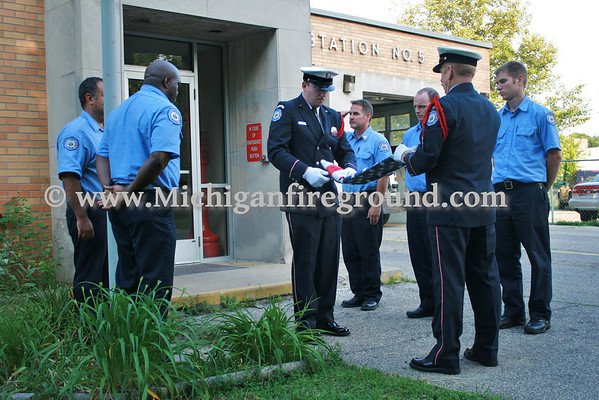 6/30/11 - Closing ceremony for Lansing Fire Station 5
