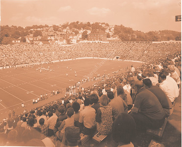 Athletics Football Game with Spectators Fall 1970
