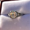 1.88ctw Platinum Filigree Solitaire Ring by C.D. Peacock, GIA S-T, VS 35