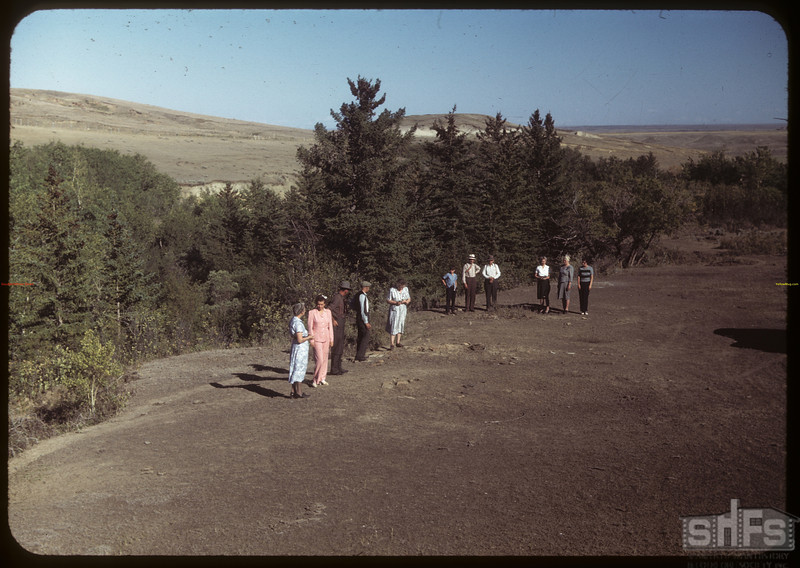 Chimney Coulee - NWMP here before 1878..  Shaunavon.  08/14/1949