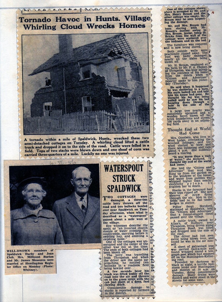 Tornado in Spaldwick Provided by Elizabeth Smith
