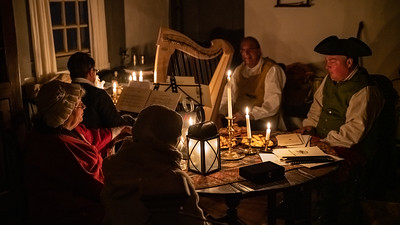 Old Bethpage Village Restoration by Candlelight Dec 2018