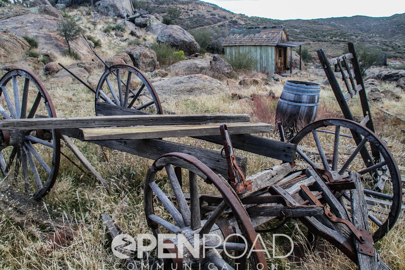 Part of an old, somewhat refurbished ghost town I found in Yarnell, Arizona one year.
