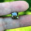 4.57ct Fancy Dark Greenish Yellow Brown Asscher Cut Diamond GIA 3