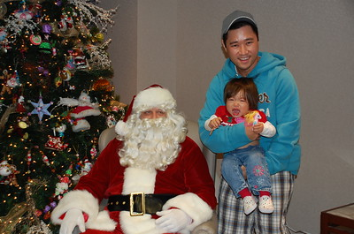 December 13, 2008 - Does not like Santa, but loves cookies.