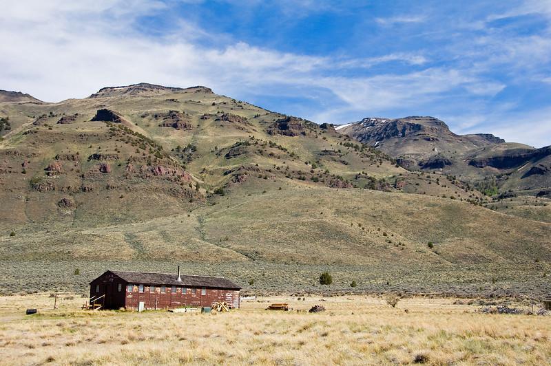 An old crew quarters below Hart Mountain.