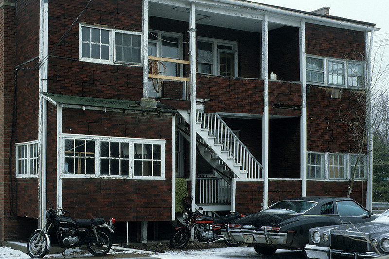 """""""Before"""" Condition of the Scott Apartment Building, Champaign, Illinois"""