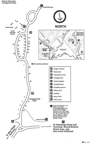 Great Smoky Mountains National Park (Balsam Mountain Campground)