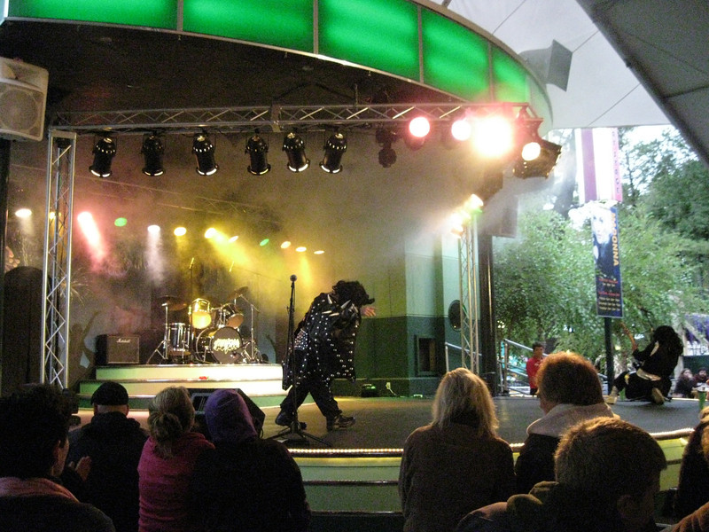 Mini KISS show on the Midway Stage.