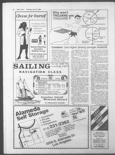 Daily Trojan, Vol. 108, No. 57, April 13, 1989