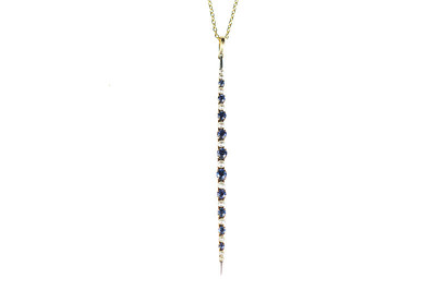 Victorian Sapphire, Pearl and Gold Brooch