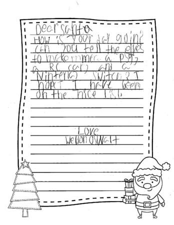 Mrs. Segleski's Third Grade Letters to Santa
