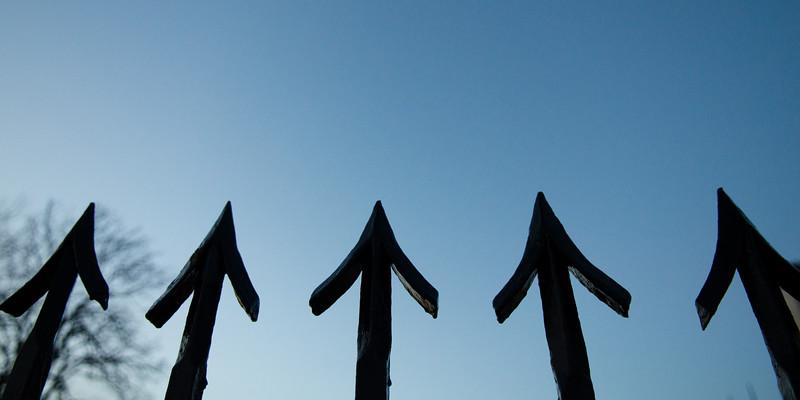 Up arrow railings