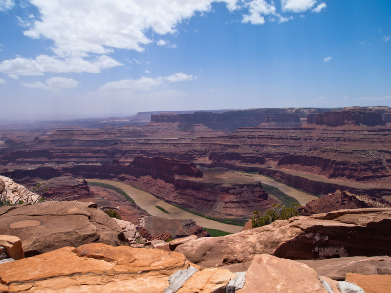 Dead Horse Point State Park.  The Colorado River is down below.
