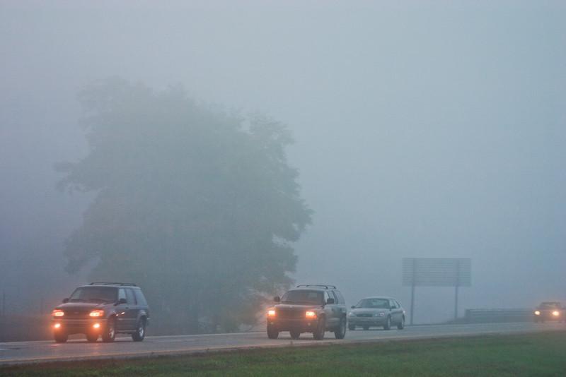 Fog and Traffic in Michigan