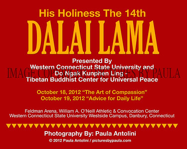 His Holiness the 14th DALAI LAMA at Western Connecticut State University ~ Danbury CT ~ October 18-19, 2012