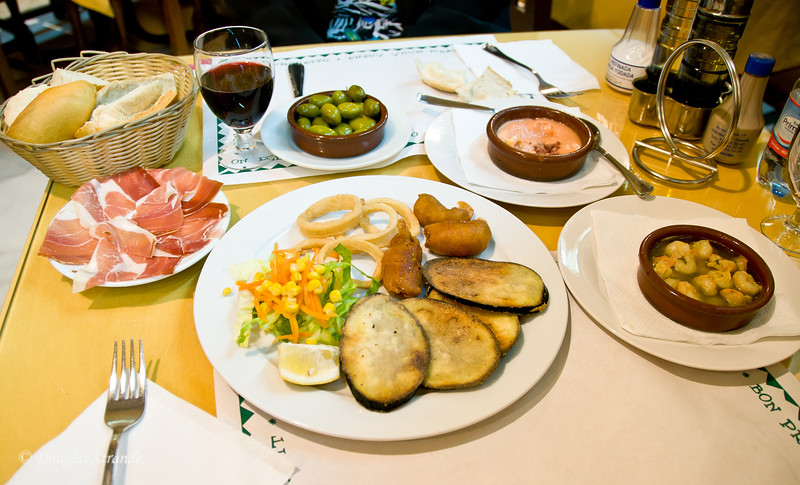 Thur 3/10 in Cordoba: Lunch Tapas special