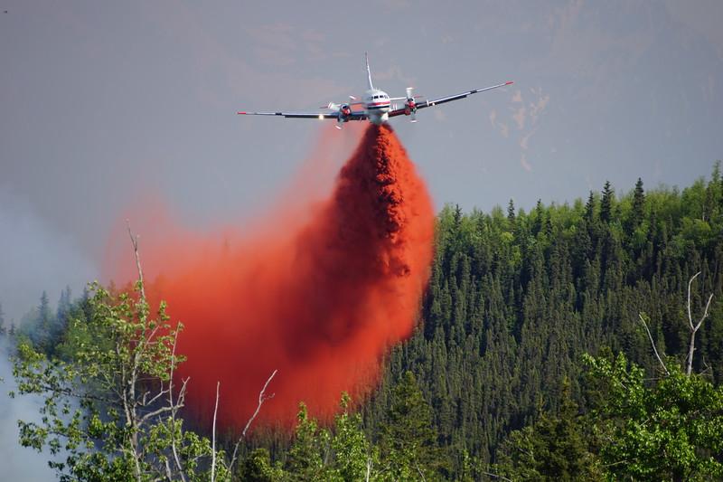 Convair 52 over the Eagle River fire in Alaska - June 2016 photo by Lyn Newsom.jpg