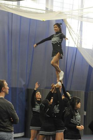 Babson cheerleaders  1.23.2010