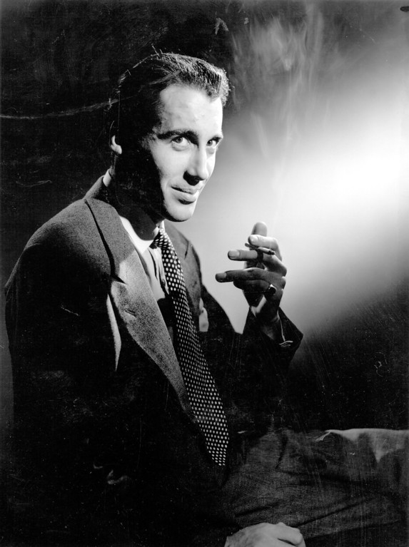 . 1948:  Christopher Lee  the distinguished British \'horror\' actor.  (Photo by Baron/Getty Images)