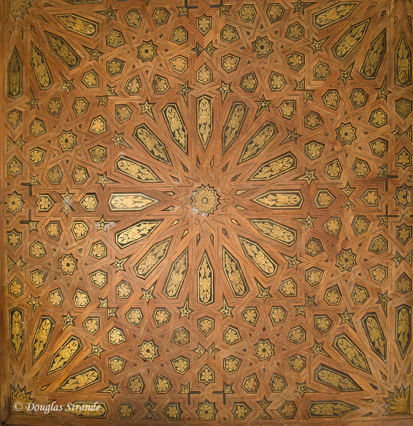 Fri 3/11 at La Alhambra in Grenada: Ceiling detail