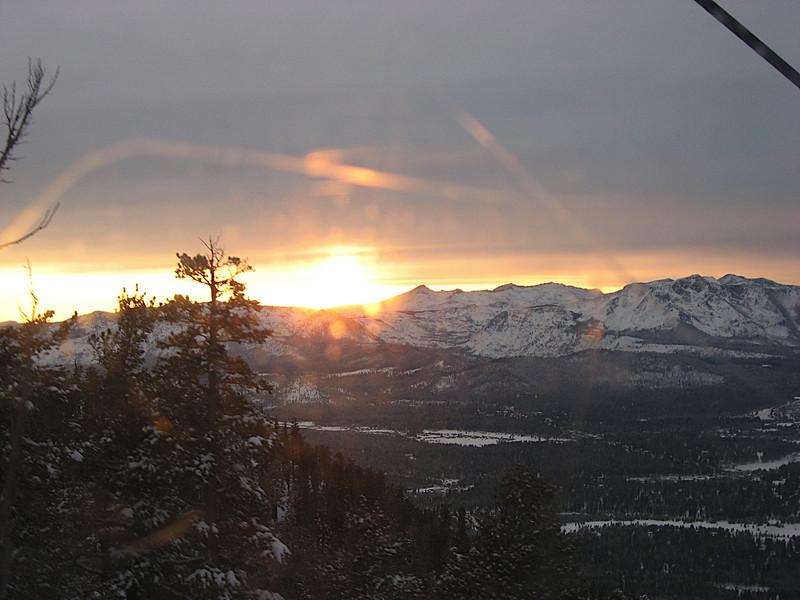 Lake Tahoe Sunset, from the Heavenly Gondola