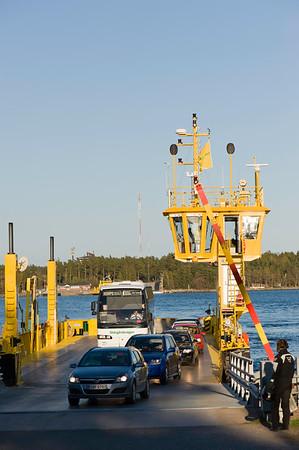 Car ferry connecting islands in Turunmaa Archipelago, Baltic Sea, Finland