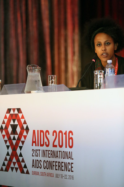 21st International AIDS Conference (AIDS 2016), Durban, South Africa. Monday 18th July 2016, VENUE : Global Village - Room 1 GV MEET THE EXPERTS : GETTING A SEAT AT THE TABLE : YOUNG LEADERS SHARE THE HIGHS AND LOWS OF LEADERSHIP AND ACCOUNTABILITY (MOGS01) Speaker : Meheret Melles (USA) Photo©International AIDS Society/Abhi Indrarajan