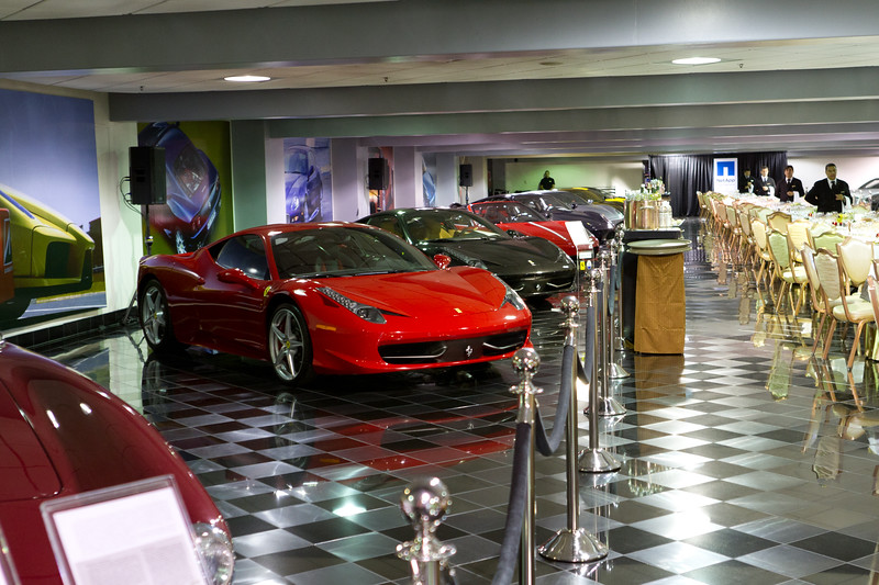 Dinner at the Ferrari Museum located in the Wynn Hotel.