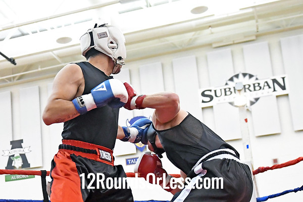 Bout #7:  Kyle Evans, Red Gloves, Columbus vs Dante Constatin, Blue Gloves, Detroit, MI, 170 Lbs