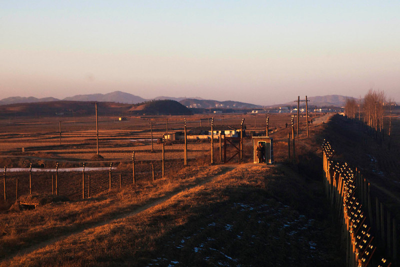 . A North Korean soldier mans a guard post near the Pyongyang airport on Monday, Dec. 19, 2011. North Korean state media has said that the country\'s leader Kim Jong Il died on Dec. 17 of a heart ailment.  (AP Photo/David Guttenfelder)