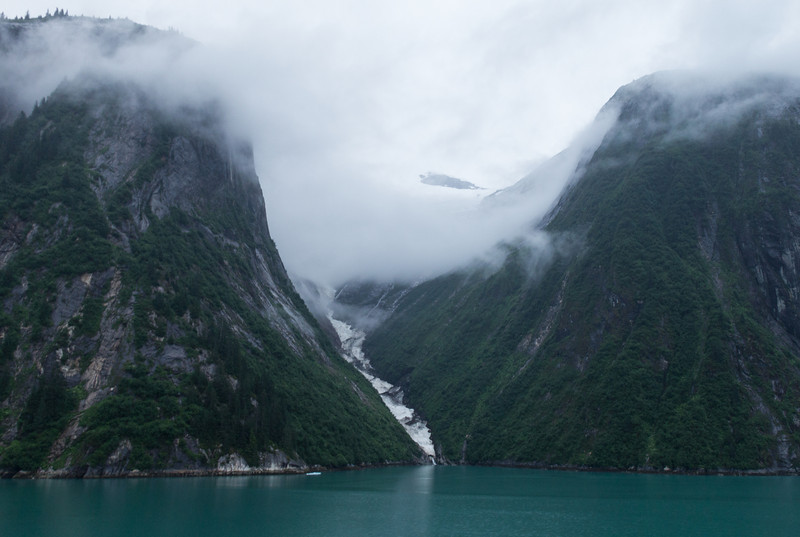 Tracy Arm was cold, rainy and cloudy just like our last visit.