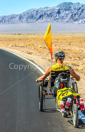 Recumbent Trike in Death Valley National Park  #3