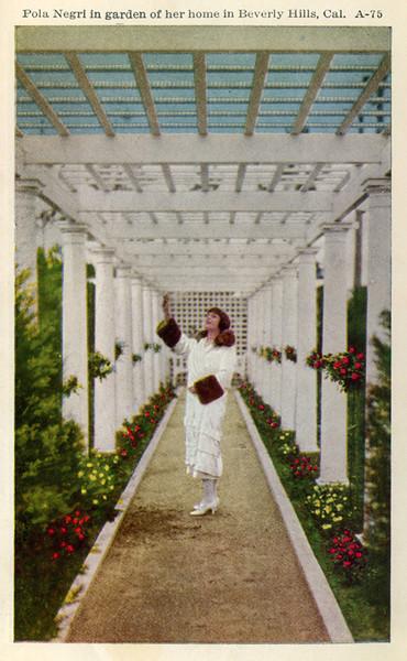 Pola Negri in Garden