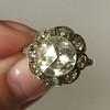 3.45ctw Antique Rose Cut Cluster Ring 17