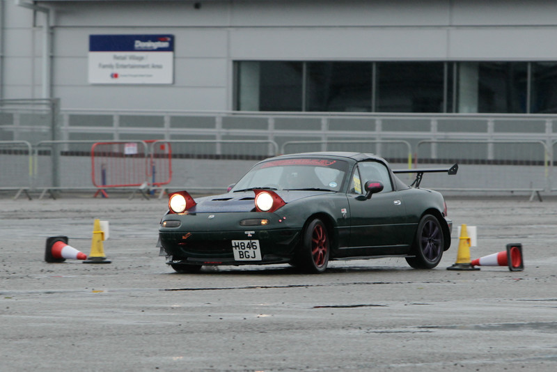 Green MX5 with Spoiler