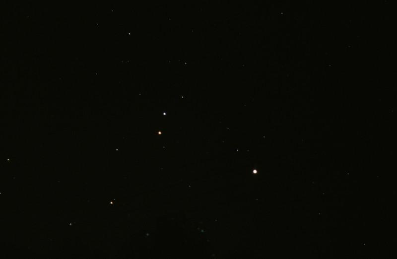 Jupiter and Mars near Regulus 20/11/1979