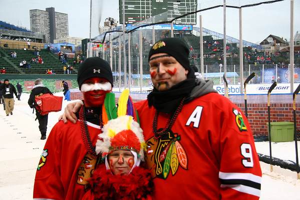Winter Classic 2009 - Hawks vs Wings at Wrigley