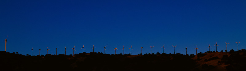 Wind turbines, Dinosaur Point, California, 1995