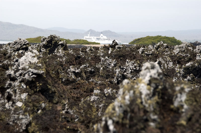 Lava rocks with Galapagos Legend in distance   (Dec 10, 2005, 01:45pm)