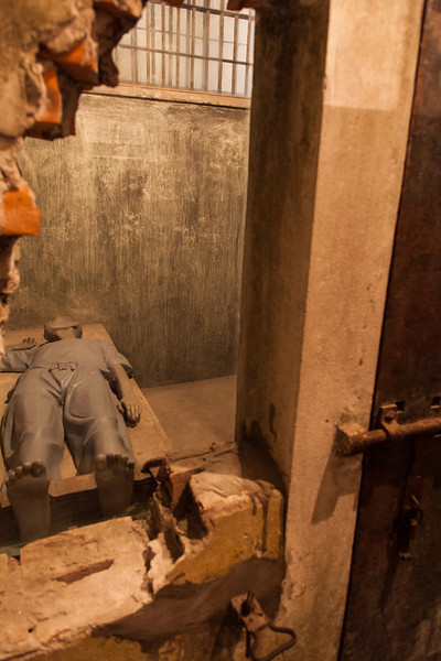 A dummy to illustrate prison life in the Hoa Lo prison, also known as the Hanoi Hilton.