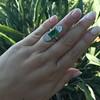 4.05ct Emerald and Old European Cut Diamond Ring 36