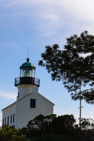 This and the next few shots are different angles of the old Point Loma Lighthouse.