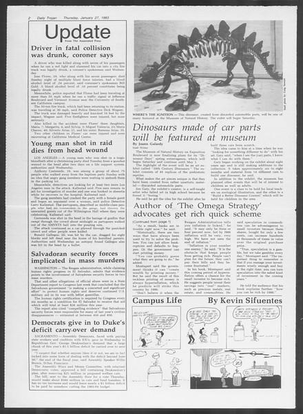 Daily Trojan, Vol. 93, No. 12, January 27, 1983