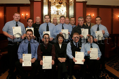 Members of the Security staff from the  Canal Court and Carrickdale Hotels who received certificates for completing a course in security professionals in the Leisure industry,05W13N52.